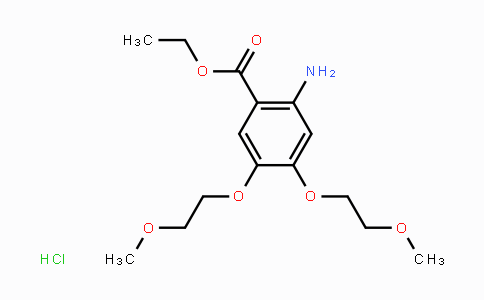DY455496 | 183322-17-0 | 2-amino-4,5-bis(2-methoxyethoxy)benzoic acid ethyl ester hydrochloride