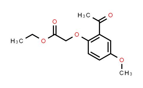 33038-04-9   (2-Acetyl-4-methoxy-phenoxy)-acetic acid ethyl ester