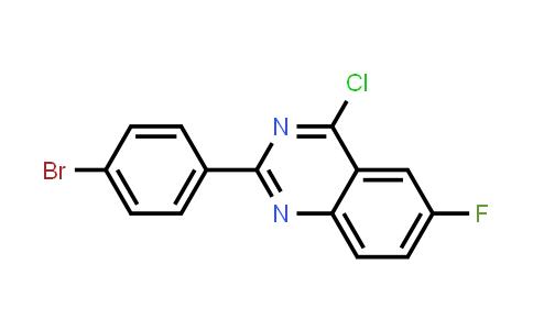 881310-87-8 | 2-(4-Bromo-phenyl)-4-chloro-6-fluoro-quinazoline