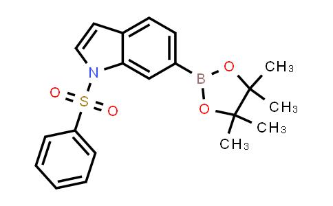 1333344-24-3 | 1-Benzenesulfonyl-6-(4,4,5,5-tetramethyl-[1,3,2]dioxaborolan-2-yl)-1H-indole