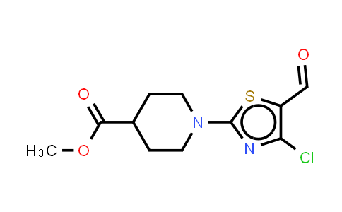 914348-64-4 | 4-Chloro-2-(4-carbomethoxyl-1-piperidinyl)-5-thiazolecarboxaldehyde