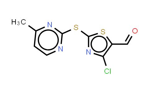 914348-70-2   4-Chloro-2-(4-methylpyrimidinyl-2-thio)-5-thiazolecarboxaldehyde