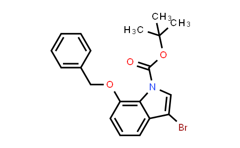 914349-40-9 | 7-Benzyloxy-3-bromoindole-1-carboxylic acid tert-butyl ester