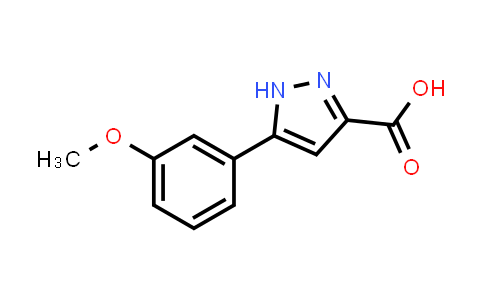 834868-54-1 | 5-(3-Methoxyphenyl)-1H-pyrazole-3-carboxylic acid