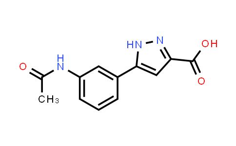 1240061-39-5 | 5-(3-Acetylaminophenyl)-1H-pyrazole-3-carboxylic acid