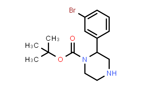 886767-65-3 | 2-(3-Bromophenyl)piperazine-1-carboxylic acid tert-butyl ester