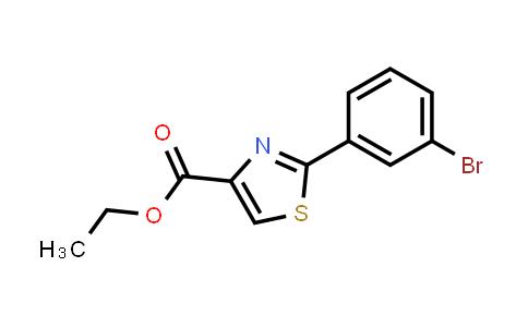 786654-97-5 | 2-(3-Bromo-phenyl)-thiazole-4-carboxylic acid ethyl ester