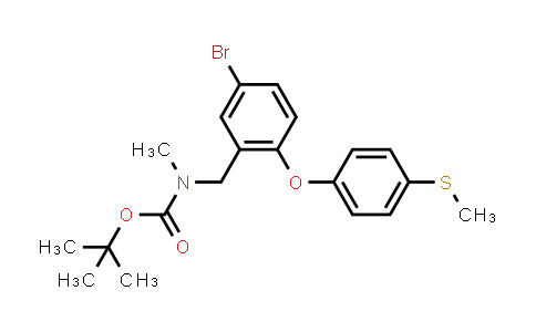 MC456277 | 364324-01-6 | tert-butyl 5-bromo-2-(4-(methylthio)phenoxy)benzyl(methyl)carbamate