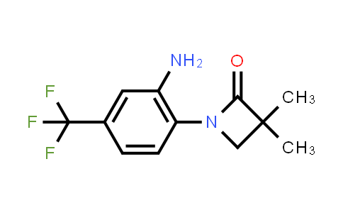 861881-17-6 | 1-(2-amino-4-(trifluoromethyl)phenyl)-3,3-dimethylazetidin-2-one