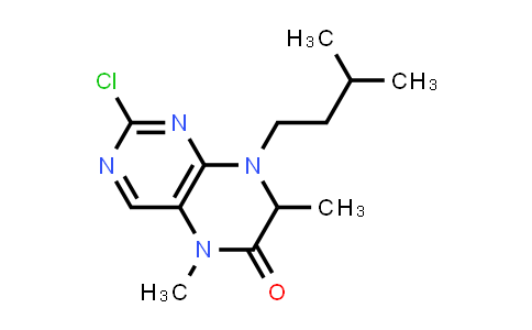 MC456433 | 501439-05-0 | 2-Chloro-5,7-dimethyl-8-(3-methylbutyl)-7,8-dihydro-5H-pteridin-6-one