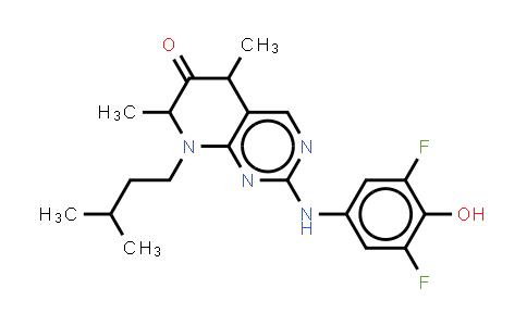 MC456434 | 501437-28-1 | 2-(3,5-Difluoro-4-hydroxyphenylamino)-5,7-dimethyl-8-(3-methylbutyl)-7,8-dihydro-5