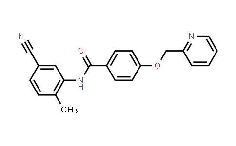 1126369-40-1 | N-(5-Cyano-2-methylphenyl)-4-(pyridin-2-ylmethoxy)benzamide