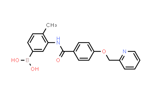 DY456489 | 1126369-28-5 | 4-Methyl-3-(4-(pyridin-2-ylmethoxy)benzamido)- phenylboronic acid