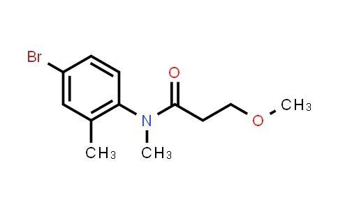 1131604-82-4   N-(4-Bromo-2-methylphenyl)-3-methoxy-N-methyl-propionamide