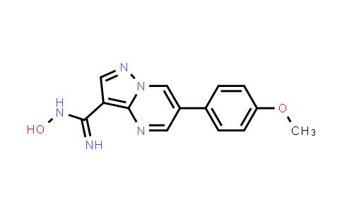 1131604-89-1 | N-Hydroxy-6-(4-methoxyphenyl)pyrazolo[1,5-a]pyrimidine-3-carboxamidine