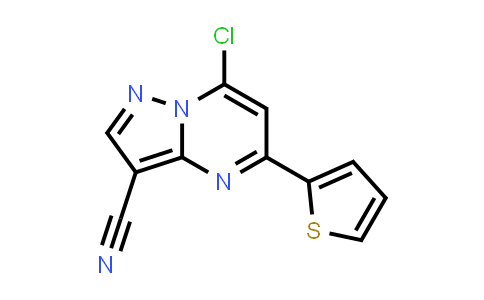 1131604-88-0   7-Chloro-5-thiophen-2-ylpyrazolo[1,5-a]pyrimidine-3-carbonitrile
