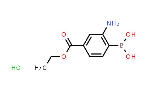 957034-59-2 | Ethyl 3-amino-4-boronobenzoate hydrochloride
