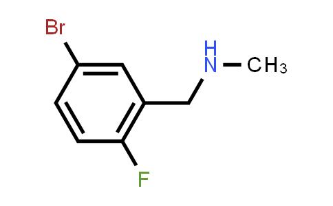 188723-97-9 | N-(5-Bromo-2-fluorobenzyl)-N-methylamine
