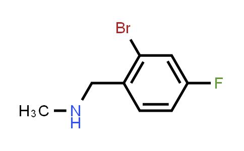 MC456653 | 887139-04-0 | N-(2-Bromo-4-fluorobenzyl)-N-methylamine