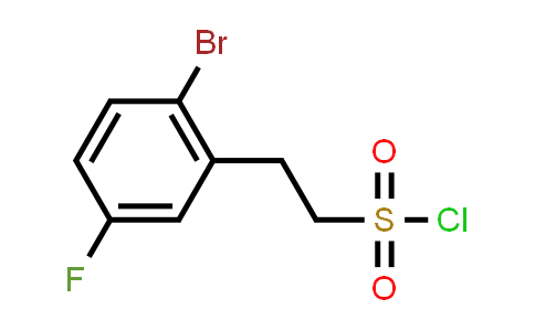 1033629-70-7 | 2-(2-Bromo-5-fluorophenyl)ethanesulfonyl chloride
