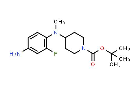 MC456762 | 952285-83-5 | tert-butyl 4-((4-amino-2-fluorophenyl)(methyl)amino)piperidine-1-carboxylate