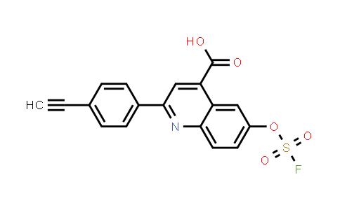 2205053-22-9 | 2-(4-ethynylphenyl)-6-[(fluorosulfonyl)oxy]- 4-Quinolinecarboxylic acid