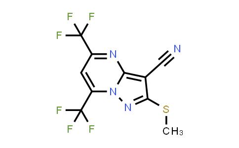 174842-48-9 | 5,7-BIS(TRIFLUOROMETHYL)-3-CYANO-2-(METHYLTHIO)PYRAZOLO[1,5-A]PYRIMIDINE