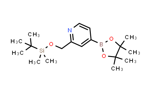 DY458123 | 880495-84-1 | 2-((TERT-BUTYLDIMETHYLSILYLOXY)METHYL) PYRIDINE-4-BORONIC ACID PINACOL ESTER
