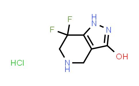 1421270-62-3 | 7,7-difluoro-4,5,6,7-tetrahydro-1H-pyrazolo[4,3-c]pyridin-3-ol hydrochloride