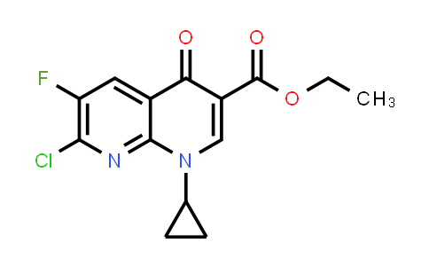 MC458132   96568-07-9   ethyl 7-chloro-1-cyclopropyl-6-fluoro-4-oxo-1,4-dihydro-1,8-naphthyridine-3-carboxylate