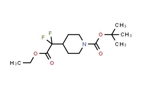 MC458134   1258639-00-7   tert-butyl 4-(2-ethoxy-1,1-difluoro-2-oxoethyl)piperidine-1-carboxylate