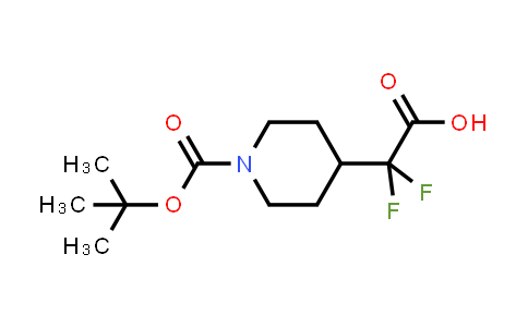 MC458140 | 1258638-62-8 | 2-(1-(tert-butoxycarbonyl)piperidin-4-yl)-2,2-difluoroacetic acid