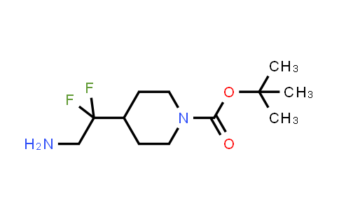 1258637-94-3 | tert-butyl 4-(2-amino-1,1-difluoroethyl)piperidine-1-carboxylate