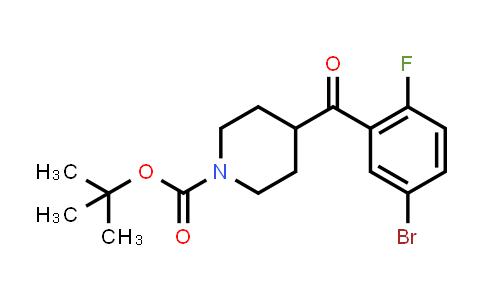 MC458155 | 1228631-72-8 | tert-butyl 4-(5-bromo-2-fluorobenzoyl)piperidine-1-carboxylate