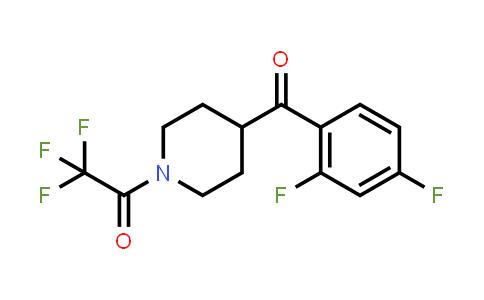 MC458190 | 1198287-09-0 | 1-(4-(2,4-difluorobenzoyl)piperidin-1-yl)-2,2,2-trifluoroethanone