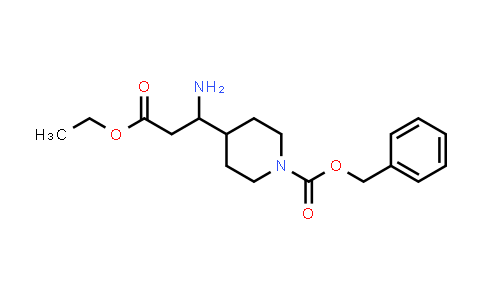 MC458204 | 886362-29-4 | Benzyl 4-(1-amino-3-ethoxy-3-oxopropyl)piperidine-1-carboxylate