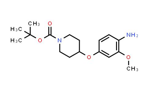 1097921-02-2 | tert-butyl 4-(4-amino-3-methoxyphenoxy)piperidine-1-carboxylate