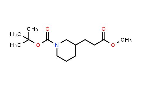 MC458237 | 874365-36-3 | Methyl N-Boc-3-piperidinepropionate