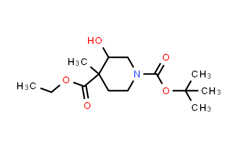 1823275-17-7 | 1-tert-butyl 4-ethyl 3-hydroxy-4-methylpiperidine-1,4-dicarboxylate