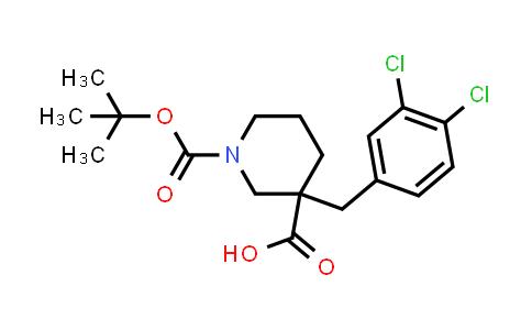887344-21-0   1-[(Tert-butyl)oxycarbonyl]-3-(3,4-dichlorobenzyl)piperidine-3-carboxylic acid