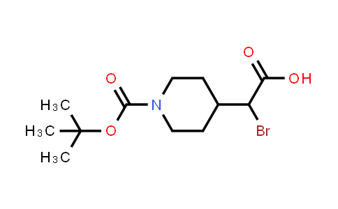 881016-89-3 | A-BROMO-1-[(1,1-DIMETHYLETHOXY)CARBONYL]-4-PIPERIDINEACETIC ACID