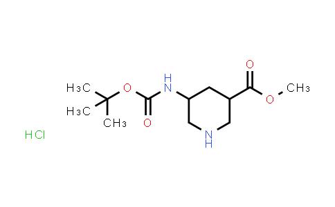 MC458316 | 1881321-33-0 | methyl 5-(tert-butoxycarbonylamino)piperidine-3-carboxylate hydrochloride