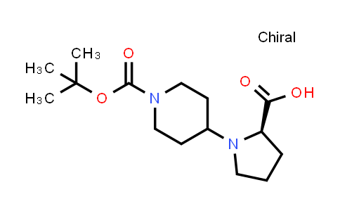 1212074-78-6 | (R)-4-(2-Carboxy-pyrrolidin-1-yl)-piperidine-1-carboxylic acid tert-butyl ester