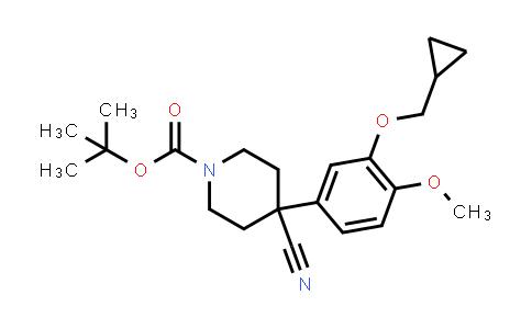 666179-97-1 | 1-BOC-4-CYANO-4-[3-(CYCLOPROPYLMETHOXY)-4-METHOXYPHENYL]-PIPERIDINE