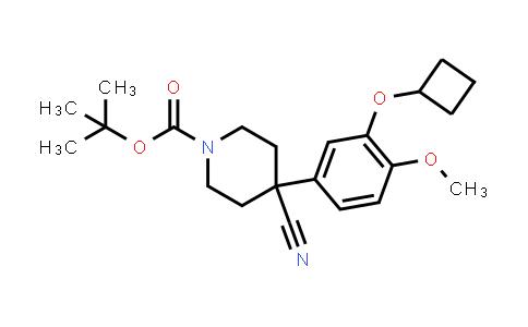 666180-01-4   1-BOC-4-CYANO-4-[3-(CYCLOBUTYLOXY)-4-METHOXYPHENYL]-PIPERIDINE