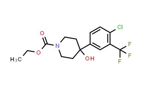 MC458424   21928-40-5   ETHYL 4-(4-CHLORO-3-(TRIFLUOROMETHYL)PHENYL)-4-HYDROXYPIPERIDINE-1-CARBOXYLATE