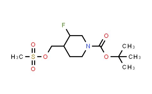 MC458594 | 882033-96-7 | tert-butyl 3-fluoro-4-((methylsulfonyloxy)methyl)piperidine-1-carboxylate