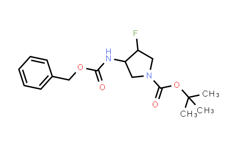 MC458601 | 1776114-04-5 | Tert-butyl 3-fluoro-4-(phenylmethoxycarbonylamino)pyrrolidine-1-carboxylate