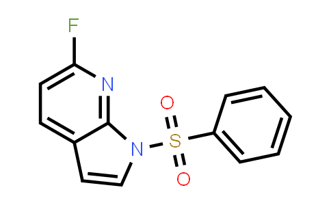 MC458611 | 1001070-29-6 | 1H-PYRROLO[2,3-B]PYRIDINE, 6-FLUORO-1-(PHENYLSULFONYL)-