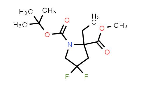 1823265-23-1 | 1-tert-butyl 2-methyl 2-ethyl-4,4-difluoropyrrolidine-1,2-dicarboxylate